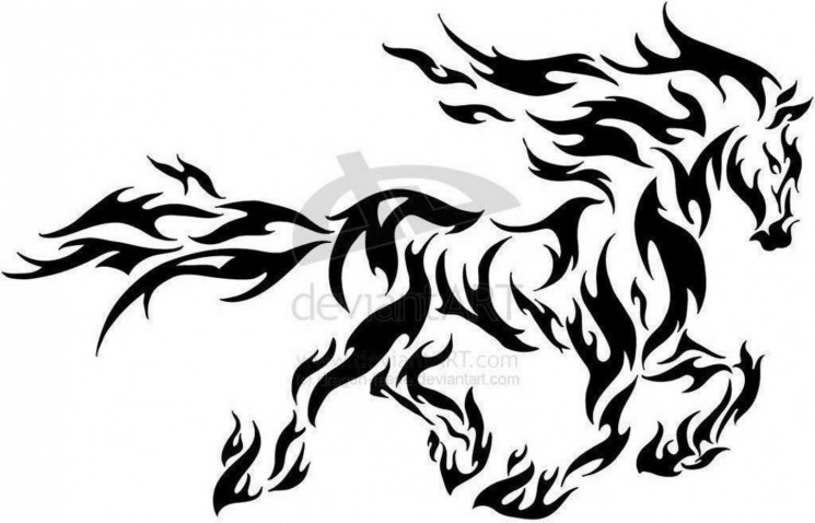 Unicorn With Wings Tattoo For Back Shoulder