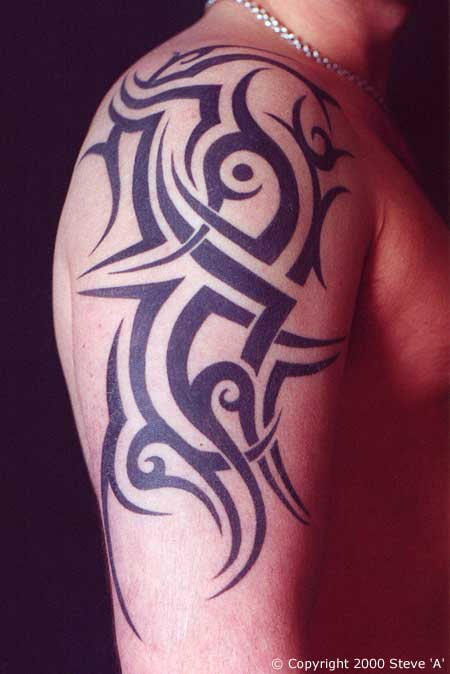 Upper Arm Tribal Tattoo