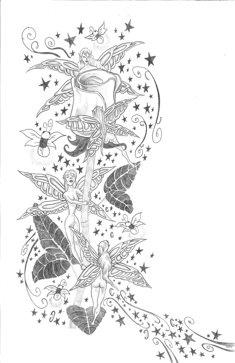Fairies tattoos designs - All Images To Various Angels N Fairy Tattoo Designs
