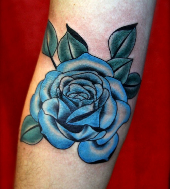 Video Game And Blue Rose Tattoos