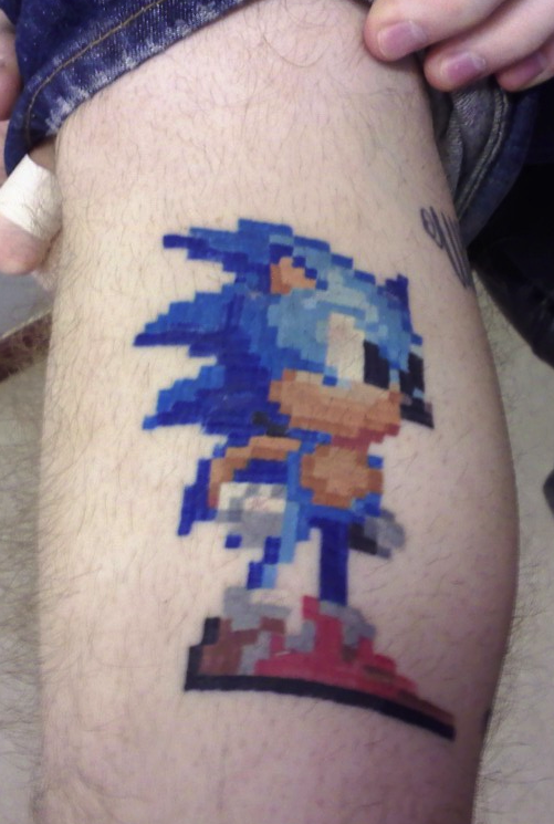 Video Game Pixel Tattoos