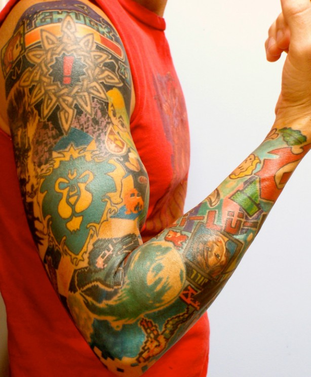 Video Game Sleeve Tattoos For Guys