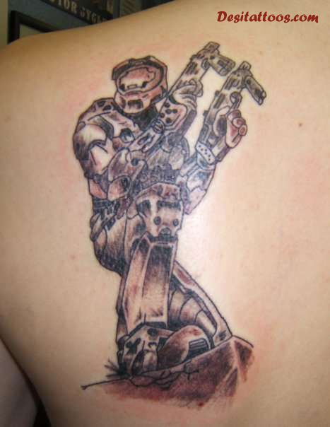 Video Game Tattoos On Upperchest