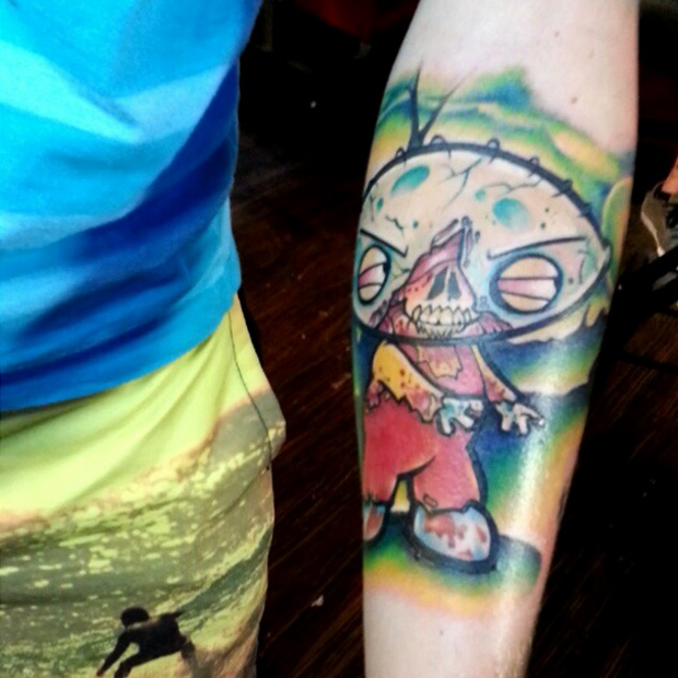 Video Game Zombie Tattoo On Lower Arm