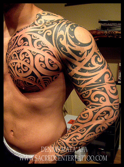Video Games Chest And Sleeve Tattoos