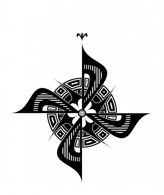 Viking Compass Tattoo Sketch
