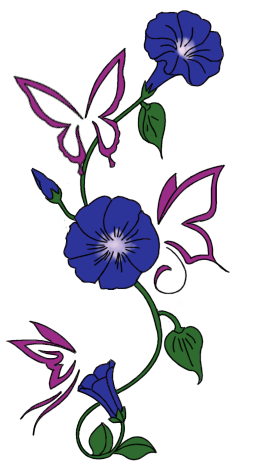 Vine And Butterfly Tattoo Sketches
