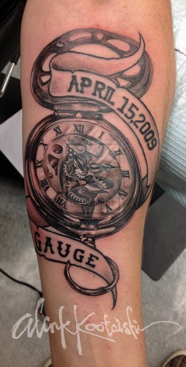 Vintage Alarm Clock Tattoo Sample