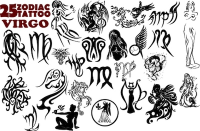 Virgo Sun Sign Tattoo Designs