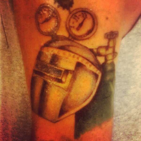 Welding Helmet And Tank Tattoos