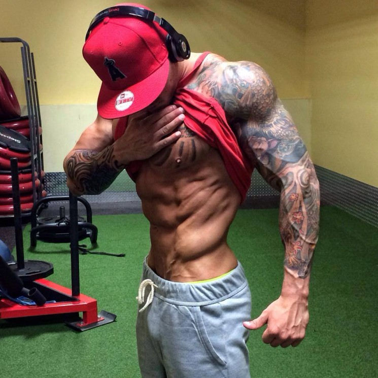 What A Muscular Physique And Left Muscles Tattoos
