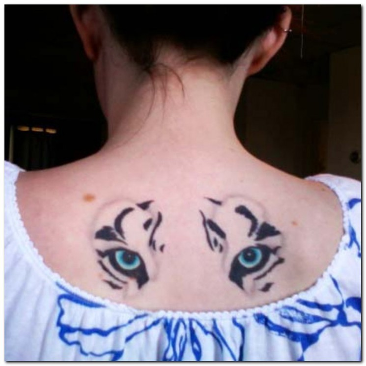 White Tiger Head Tattoo For Shoulder