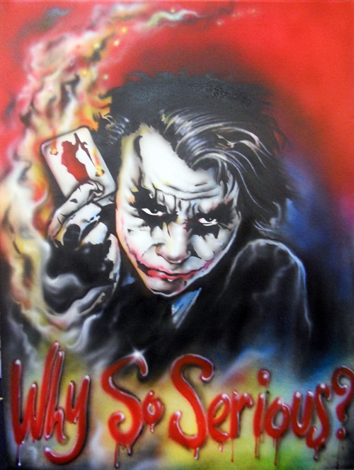 Why So Serious Joker Tattoo Graphic