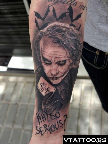 Why So Serious Joker Tattoo On Upper Arm