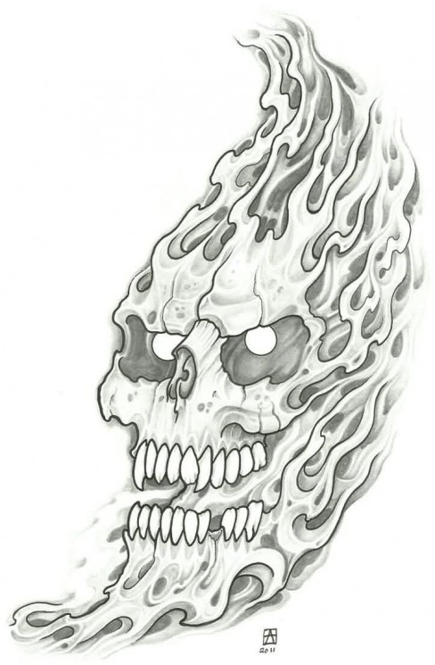 Wicked Skull Tattoo Designs