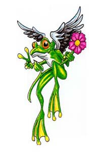 Winged Frog Tattoo Image