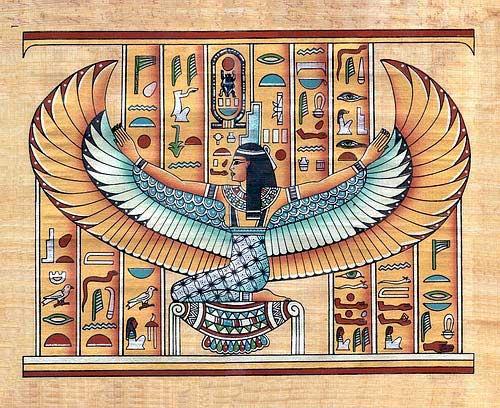 Winged Isis Egyptian Tattoo
