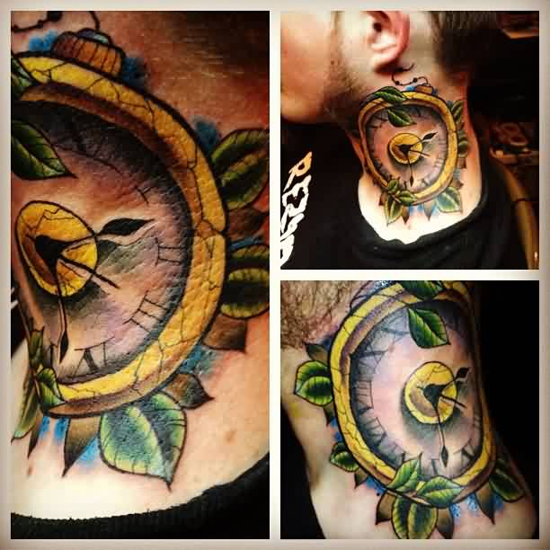 Winged Sandclock Tattoo Images