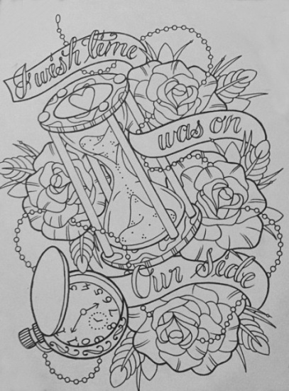 Without Color Grim Reaper Tattoo Design