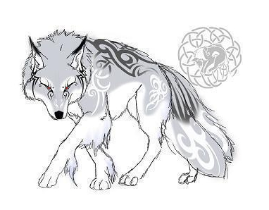 Wolf Guards His Female Tattoo