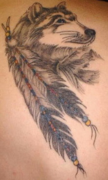 Wolves n Dream Catcher Tattoo