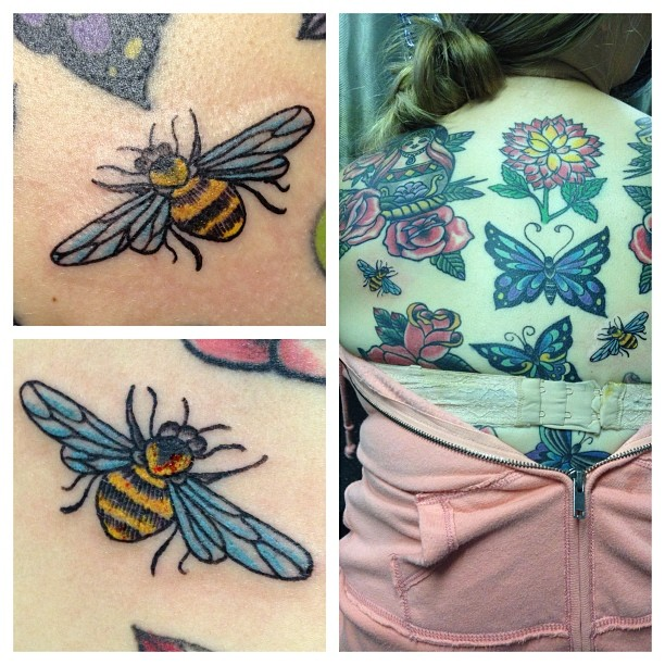 Wonderful Bee Tattoo