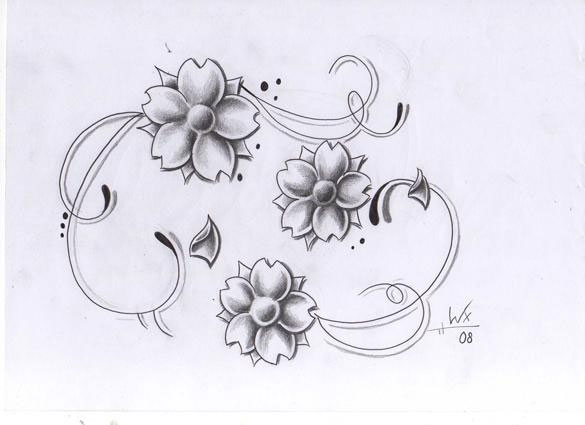 Wonderful Flower Tattoo Design