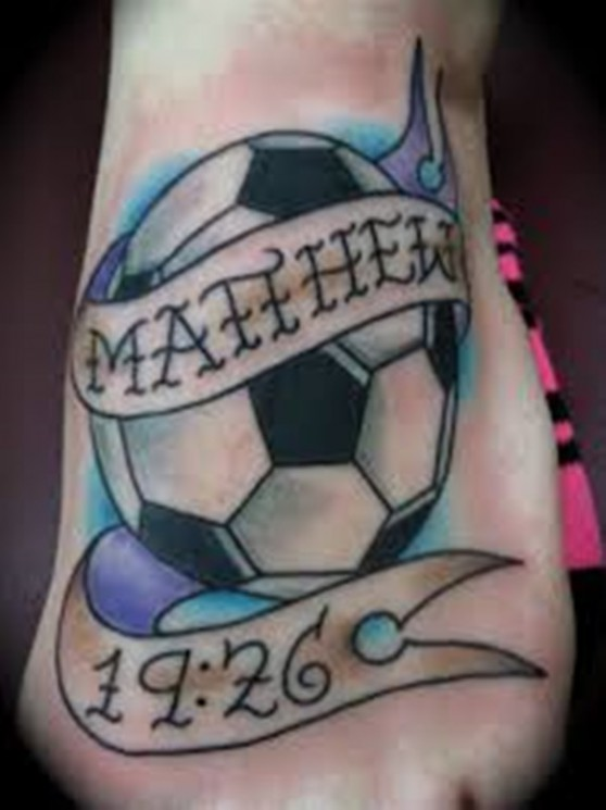 Wonderful Football Player Tattoo Image