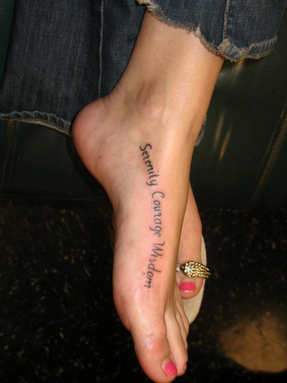 Wording Heel Tattoo