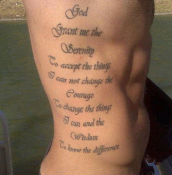Wording Tattoo For Belly