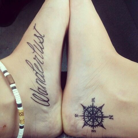 World Map Tattoo Below Ankle