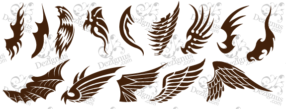 Your Name Heart With Wings Tattoo Design