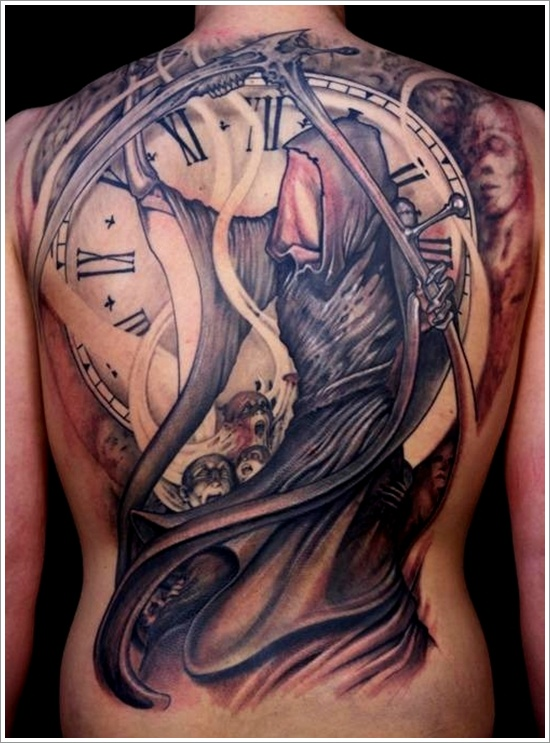Your Times Up Grim Reaper Tattoo Design