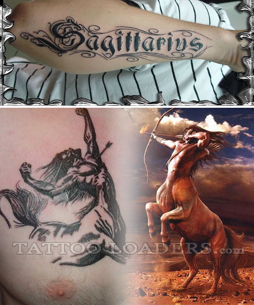 Small Size Sagittarius Tattoo On Ankle For Boys