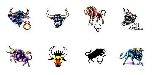 Zodiac Taurus Tattoo Set