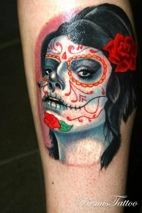 Zombie Girl Tattoo Photo