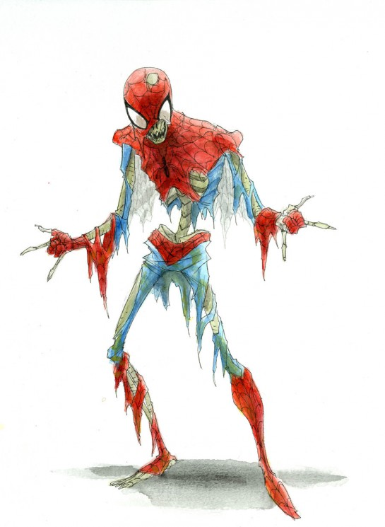 Zombie Spiderman Tattoo