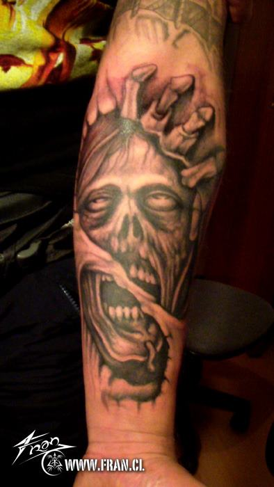 Zombie Tattoos On The Arm