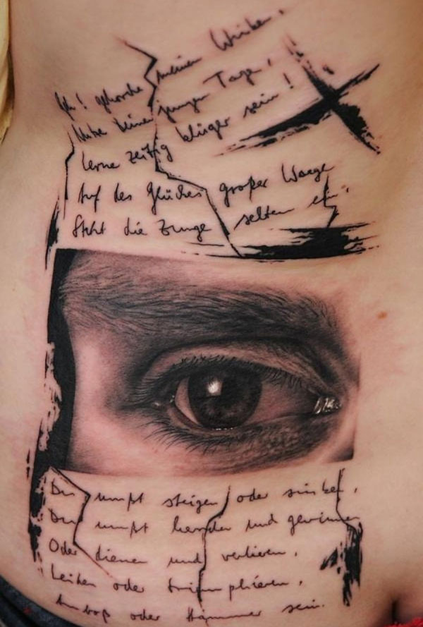 3D Blue Eye Tattoo For Girls And Women photo - 3