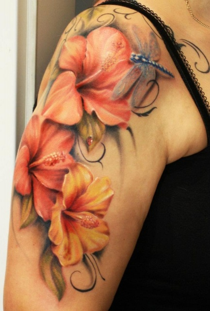 3D Butterfly Insect Tattoo On Forearm photo - 1