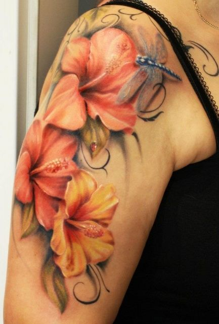 3D Butterfly Insect Tattoo On Leg photo - 1
