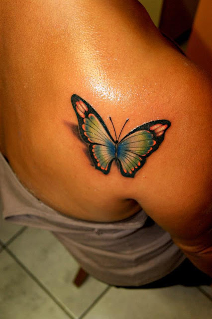 3D Monarch Butterfly Tattoo On Foot photo - 3