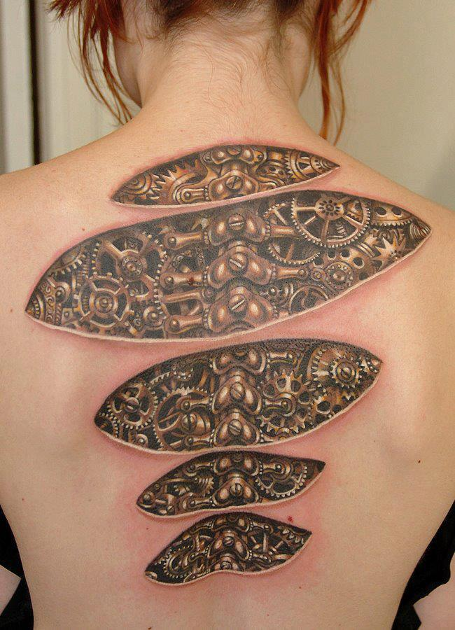 3D Puzzle Tattoos On Foot photo - 1