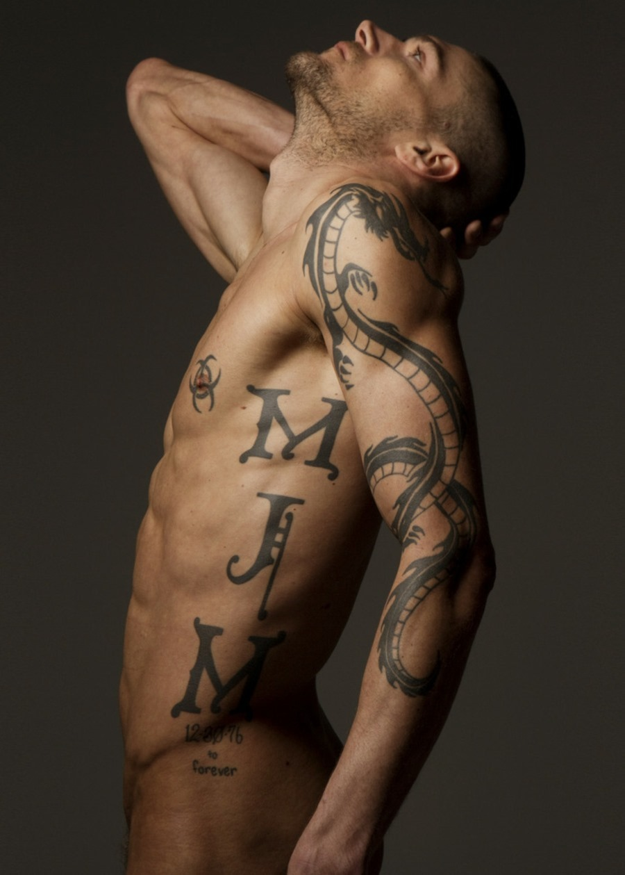 3D Religious Star Tattoo On Chest photo - 3
