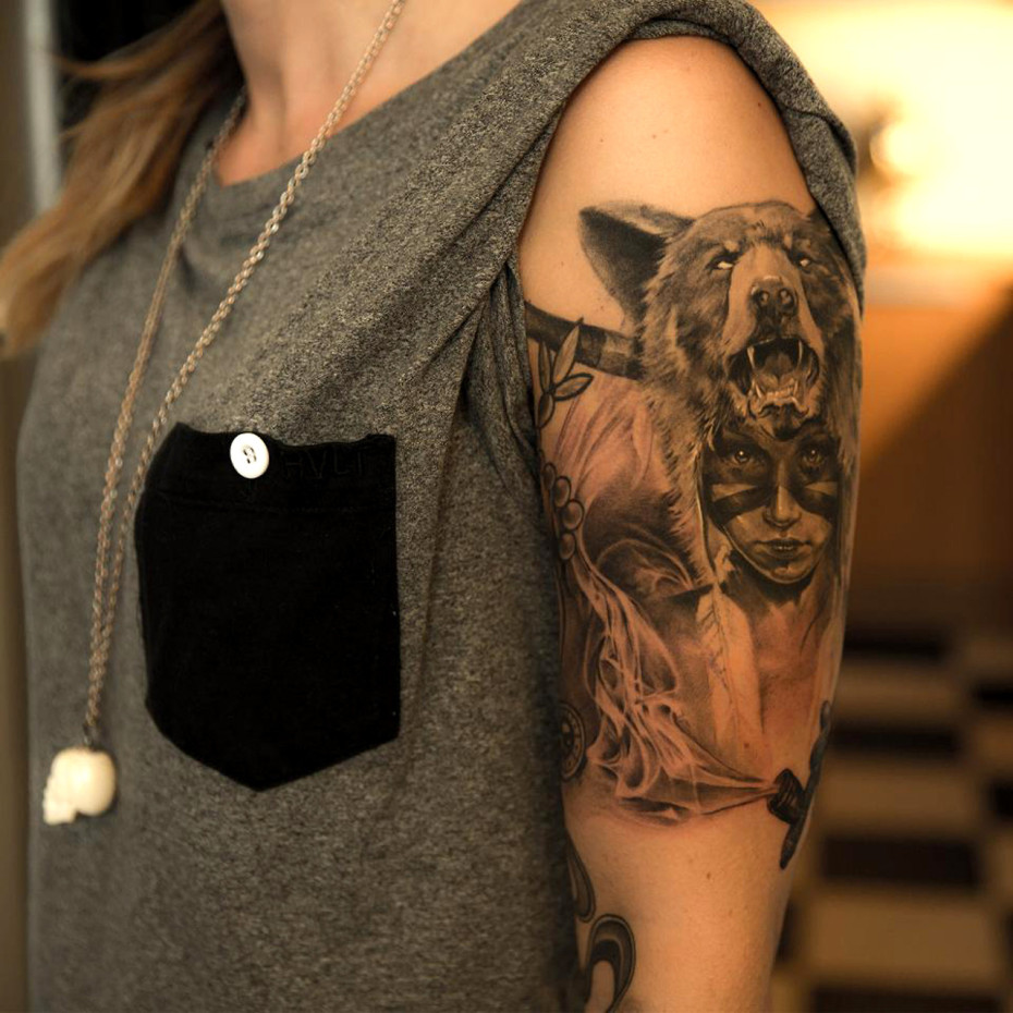 3D Stairs Tattoo On Shoulder photo - 2