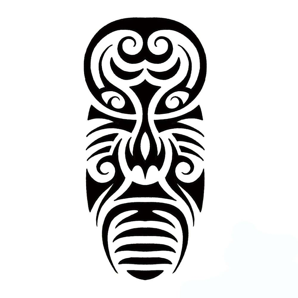 African Tribal Mask Tattoo Design photo - 2