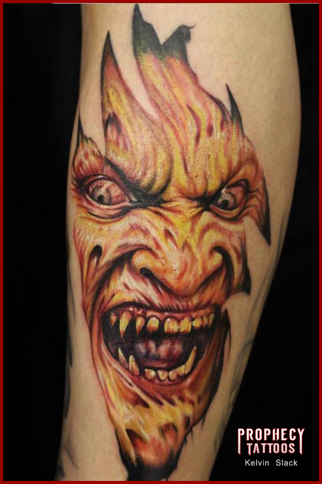 Alien Face Tattoo Picture photo - 1
