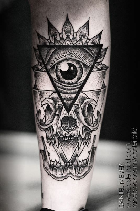 Amazing Animal Skull Tattoo photo - 2