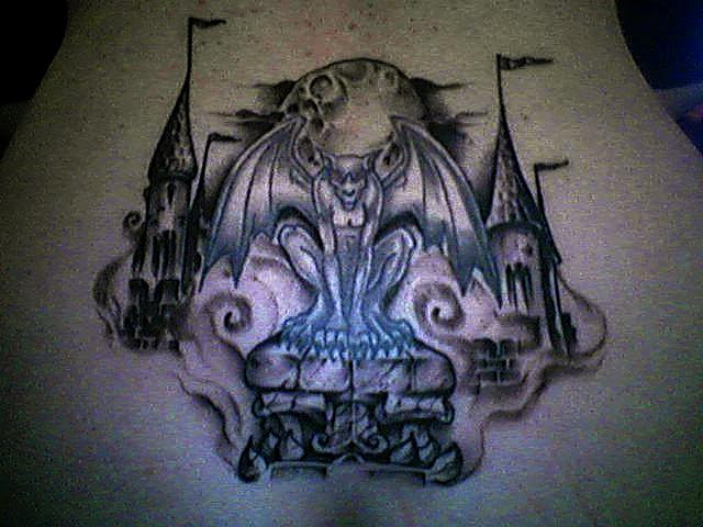 Amazing Gargoyle Tattoo Art photo - 1