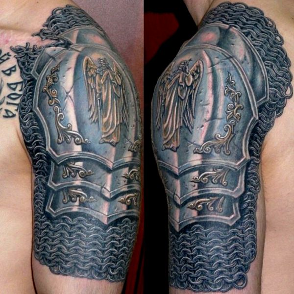 Amazing Tribal Alien Tattoo On Biceps photo - 2